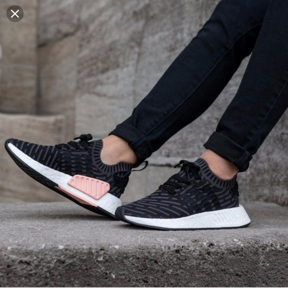 Cheap Adidas NMD R2 Primeknit Utility Black And Pink Womens